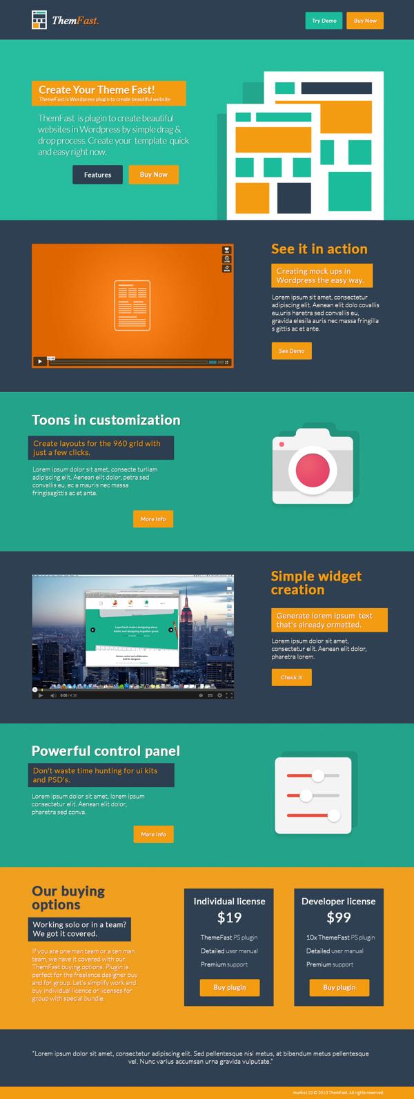 ThemFast plantilla PSD para diseñar paginas web