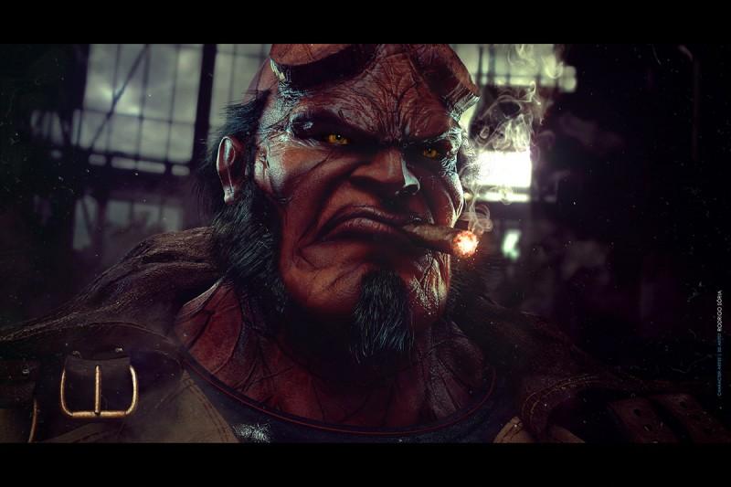 Tutorial para diseñar retrato 3D de Hellboy con zBrush