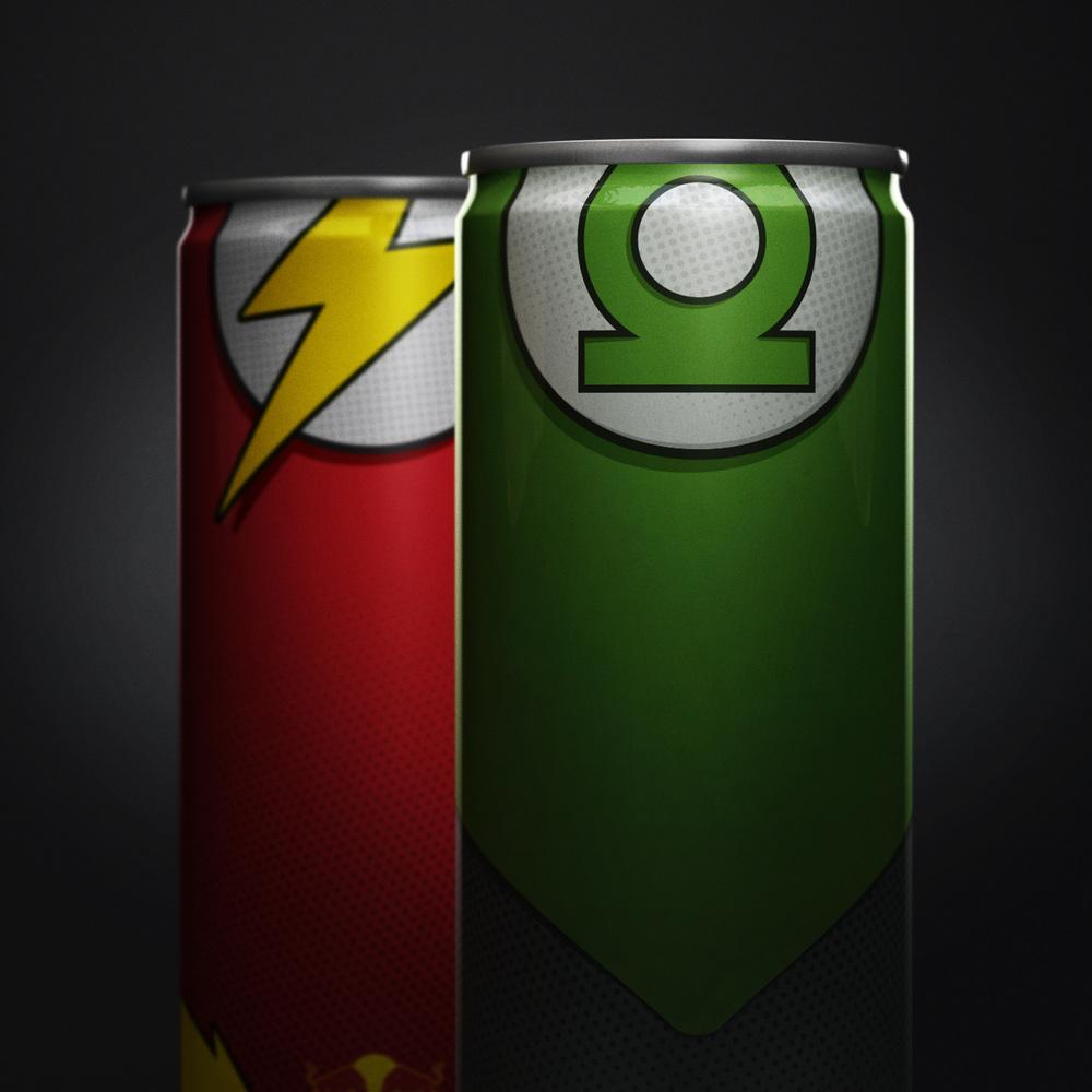 RedBull super heroes linterna verde y flash