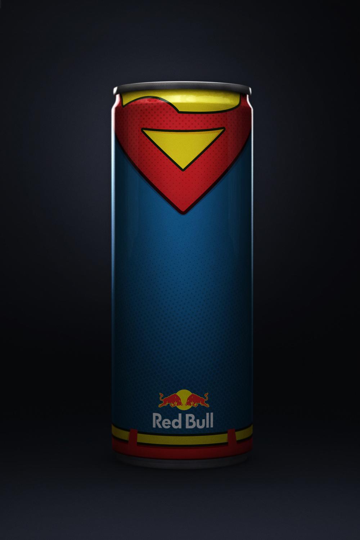 RedBull super heroes superman