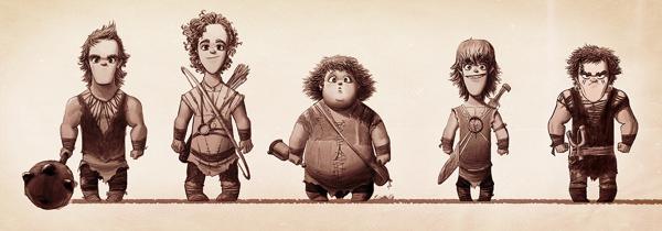 caricaturas personajes enanos