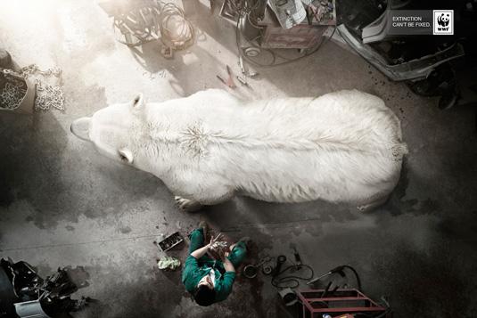 cartel publicitario WWF