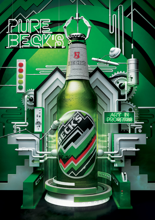 cartel publicitario becks