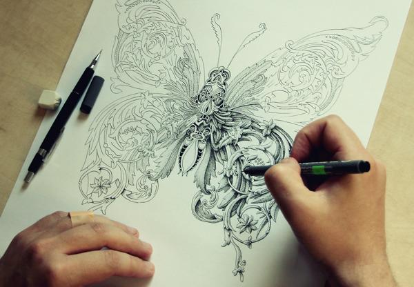 ilustraciones Alex Konahin mariposa
