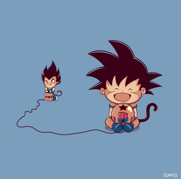 ilustraciones personajes goku