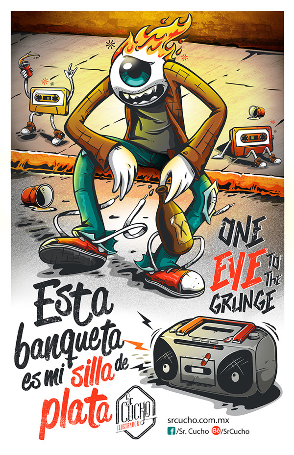 ilustraciones sr chucho On eye to the grunge