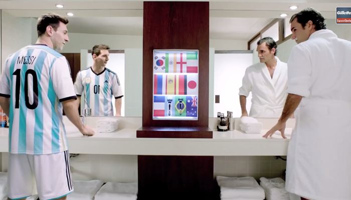 messi vs federer gillette