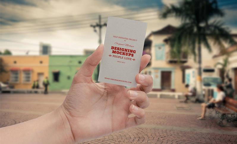 Mockup para tarjeta de presentación