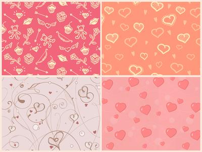 Patrones para tarjetas de san valentin, para Photoshop