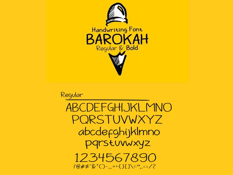 barokah_free_font