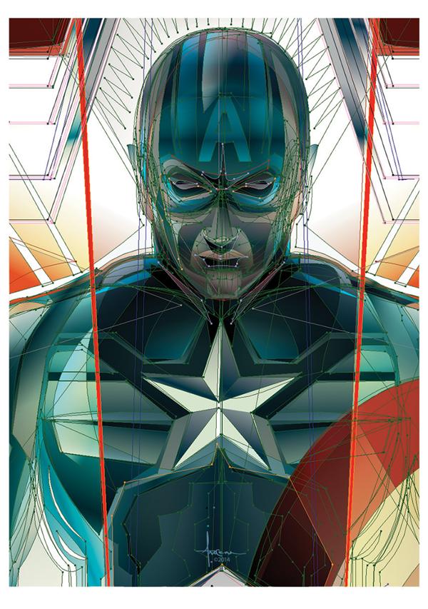 capitan america winter soldier poster detalles 1