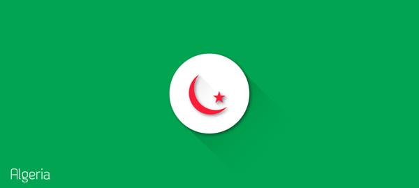 escudos futbol flat algeria