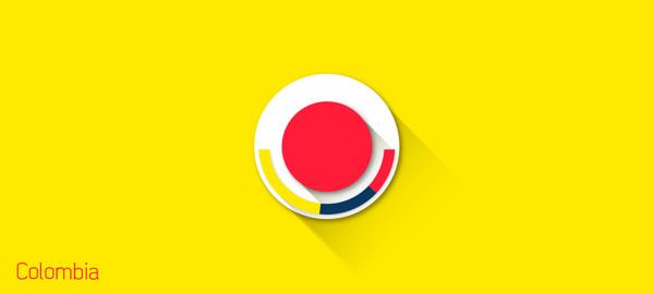 escudos futbol flat colombia