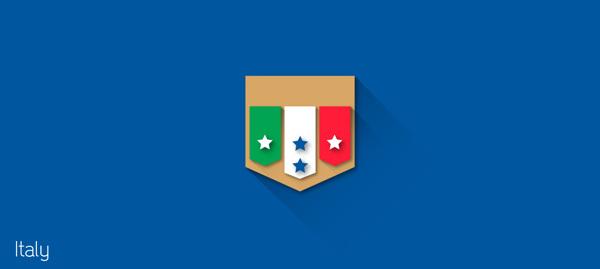 escudos futbol flat italia
