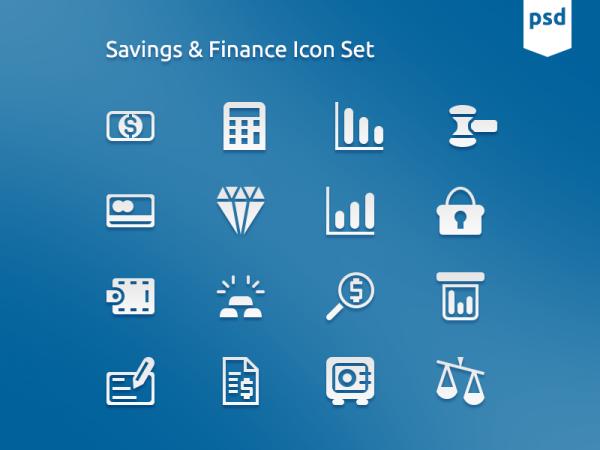 Iconos de finanzas