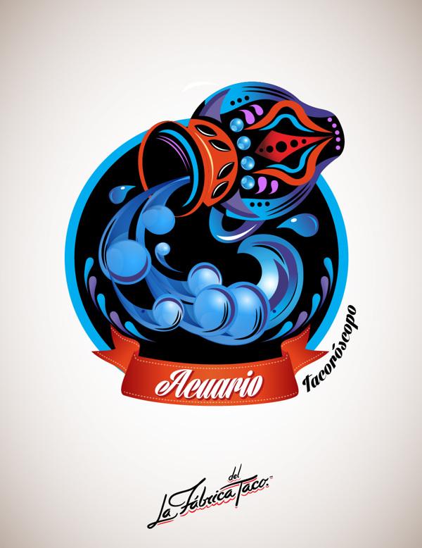 ilustraciones zodiaco acuario