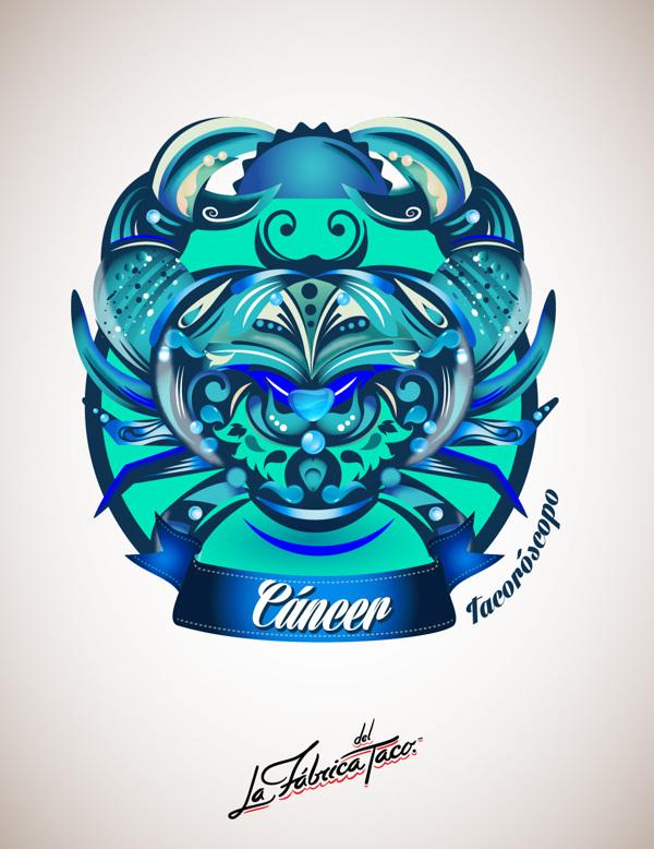 ilustraciones zodiaco cancer