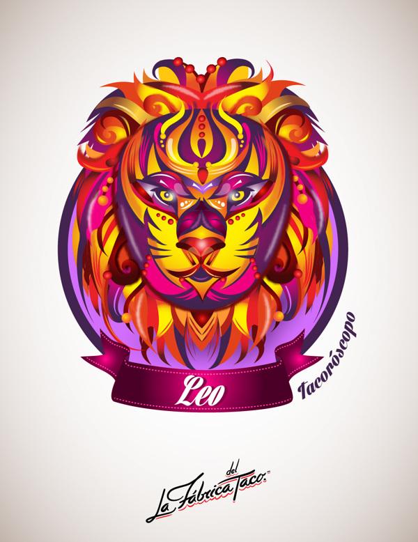 ilustraciones zodiaco leo