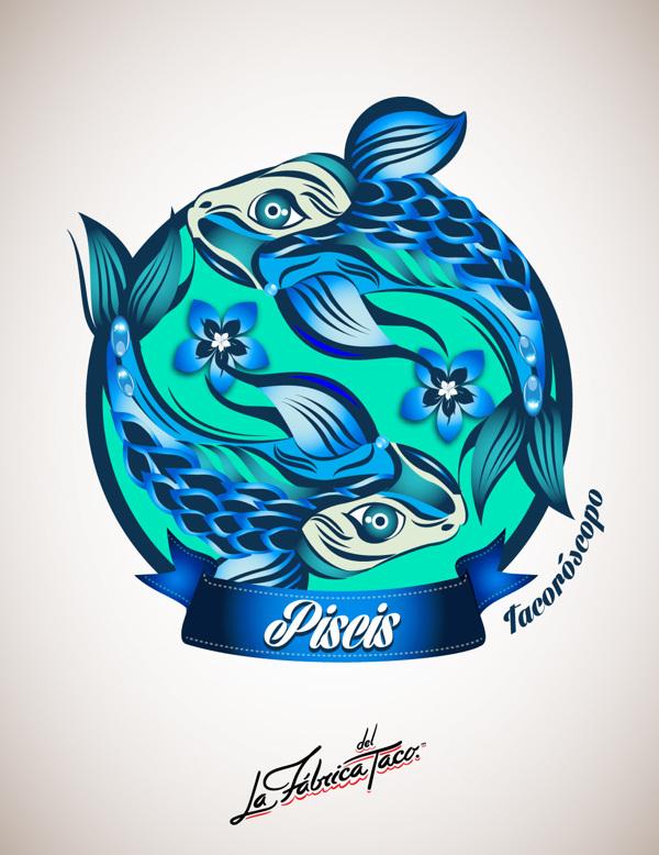 ilustraciones zodiaco piscis