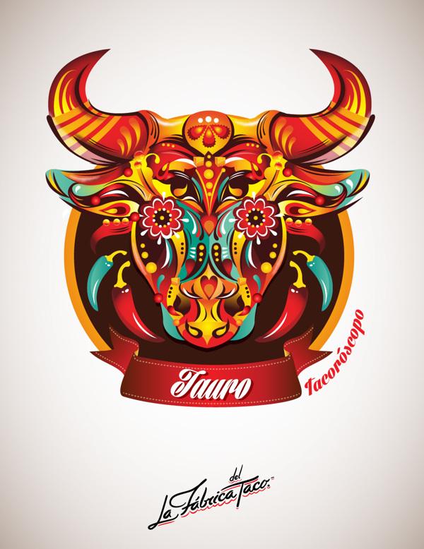 ilustraciones zodiaco tauro