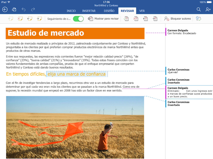 office para ipad word