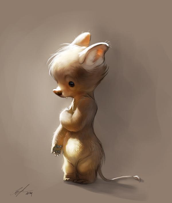 pinturas por Therese Larsson little bear