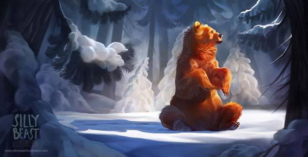 pinturas por Therese Larsson oso