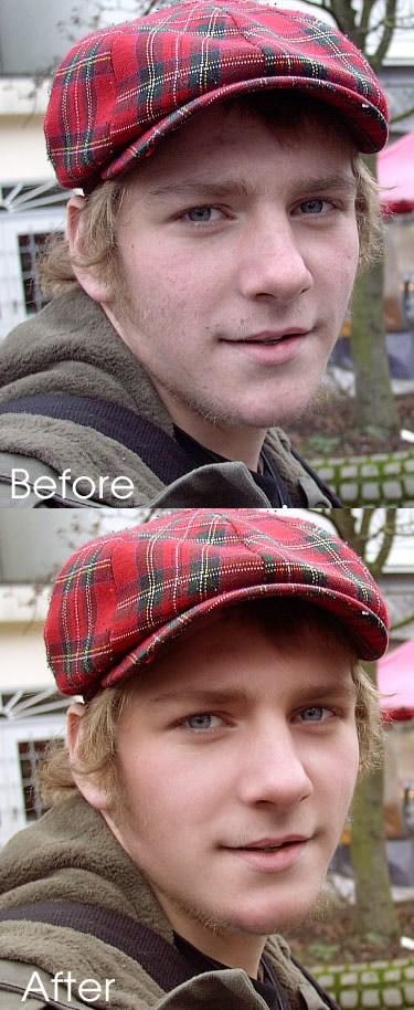 Tutorial para limpiar rostro de hombres con Photoshop