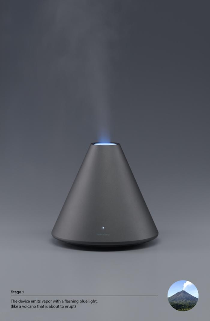 Volcano Series/Humidifier por Dae-Hoo Kim de la Republica de Korea