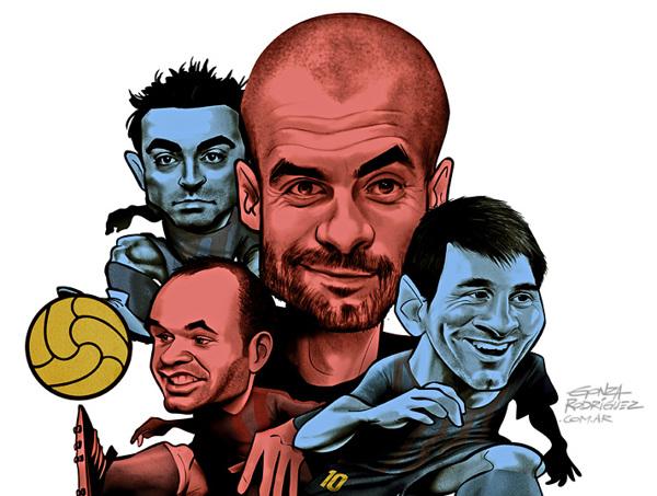Barcelona de Pep, Messi, Xavi, Iniesta