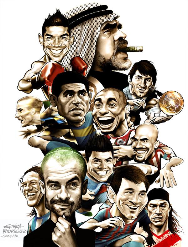 Poster futbolistas