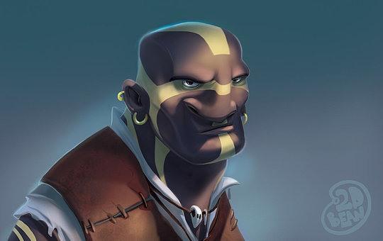 diseños de personajes brett bean 1