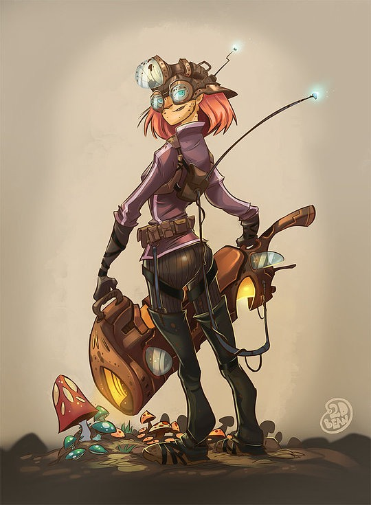 diseños de personajes brett bean 2