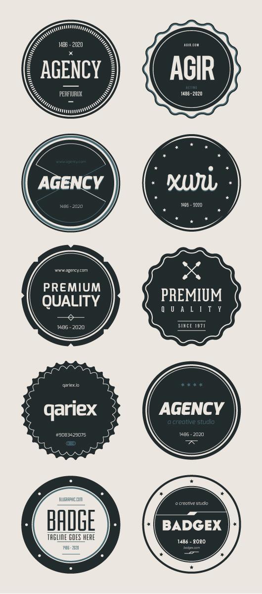flat badges full
