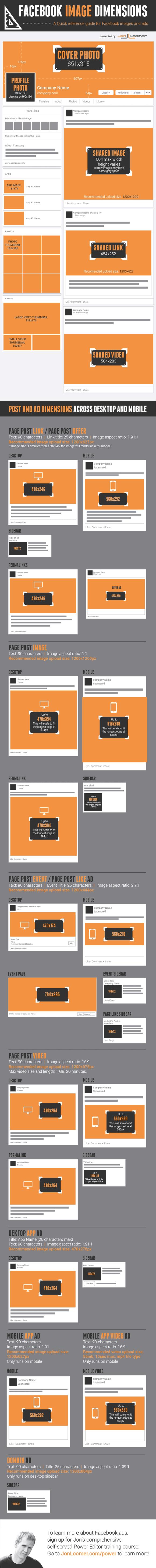 infografia branding dimensiones facebook
