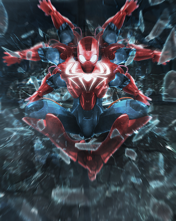 iron mash spiderman