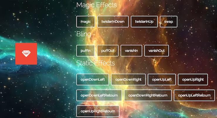 magic framework javascript para animaciones css