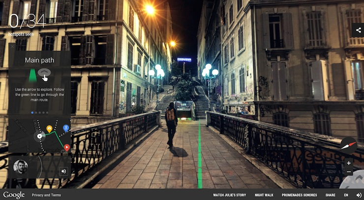 night walk with google