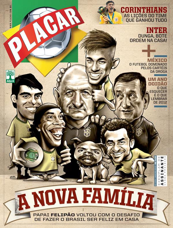 Portada Revista Placar - Selección de Brasil