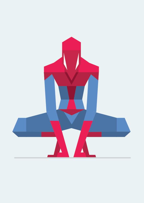 posters minimalistas bunka spider man