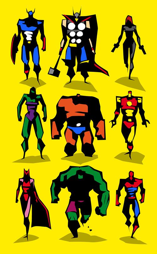posters minimalistas bunka the avengers
