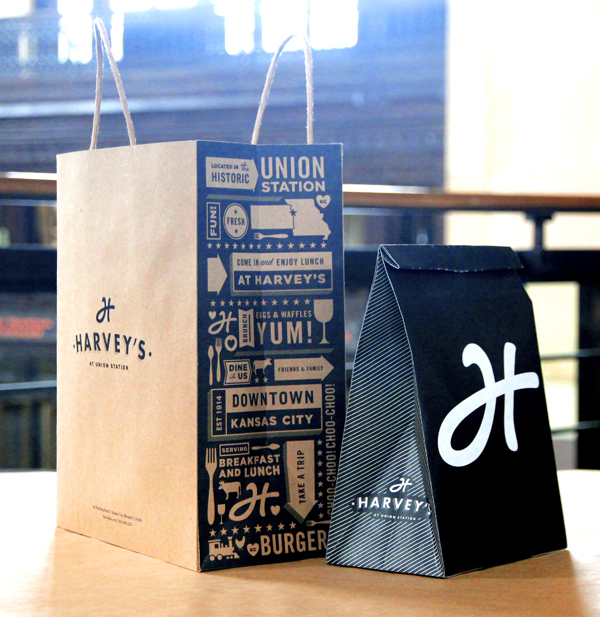 proyecto branding restaurant harveys bolsas