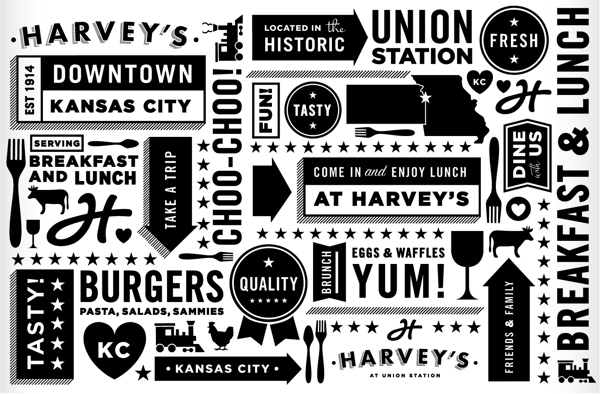 proyecto branding restaurant harveys logos