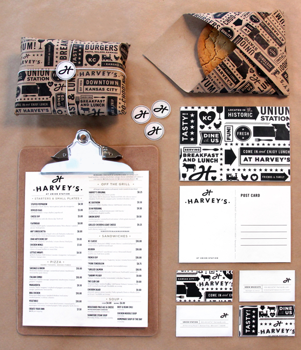 proyecto branding restaurant harveys packaging