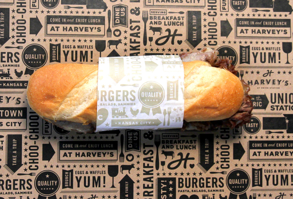 proyecto branding restaurant harveys sandwich