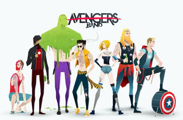 super rockers avengers band