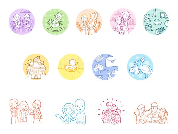 Iconos para día de las madres
