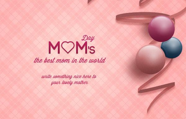 Tarjeta día de las madres para Photoshop