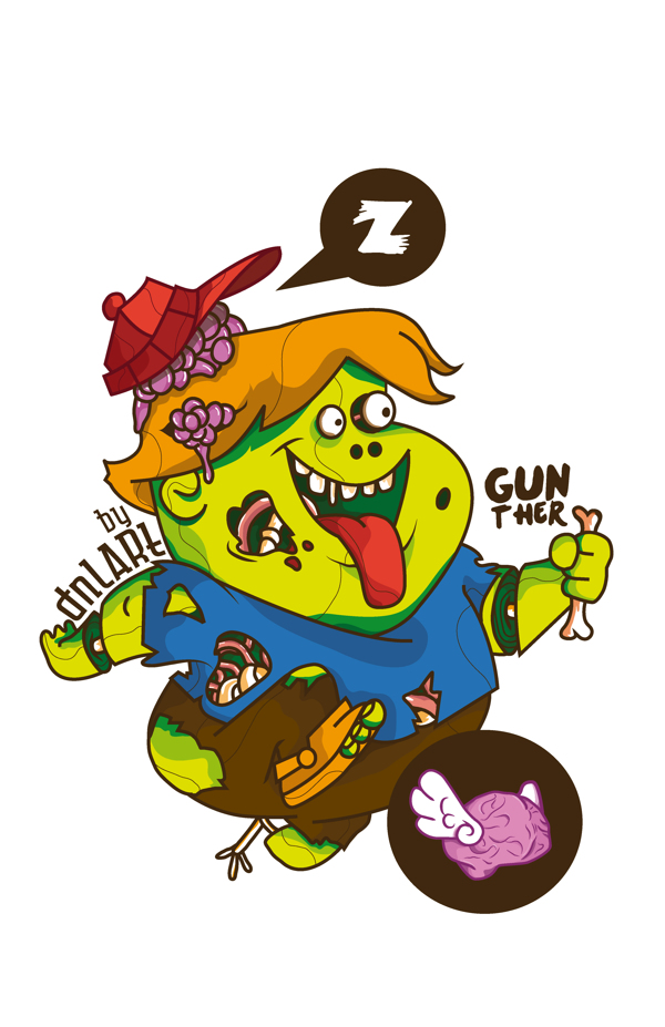 caricaturas zombie gunther