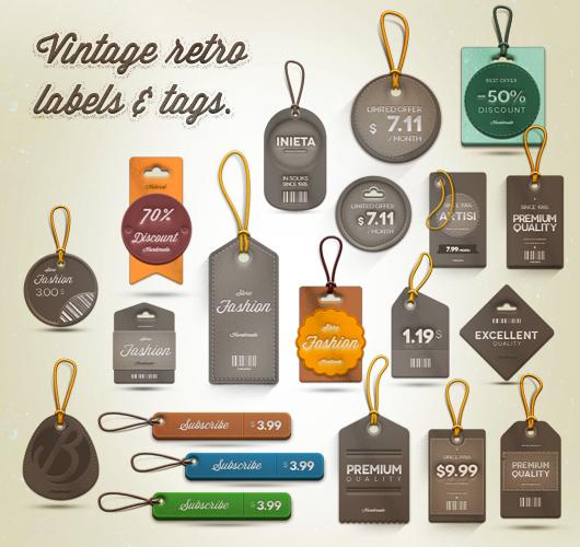 etiquetas de precio PSD